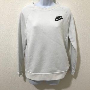 Nike Rally Crew Neck Sweatshirt, White, Small